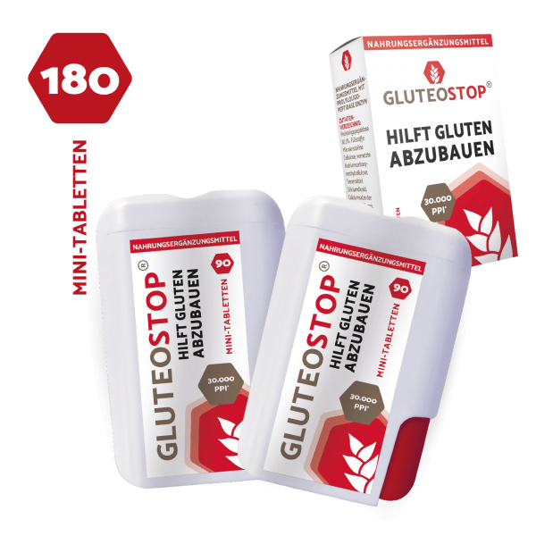 DOUBLE PACK GluteoStop® 90 Mini-tablettes